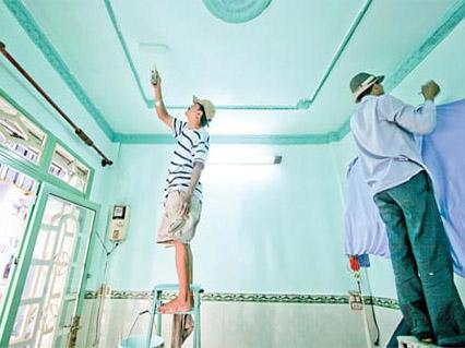 Dịch vụ sơn lại nhà, sơn sửa nhà tại Hà Nội, dich vu son nha ha noi, son lai nha ha noi