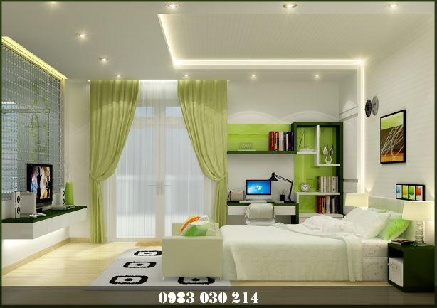 mẫu trần thạch cao phòng ngủ 4