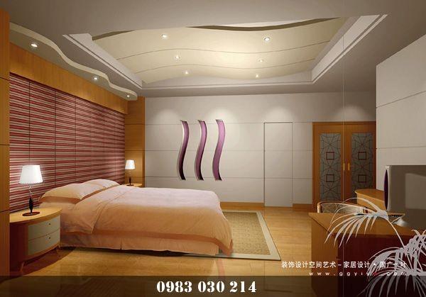mẫu trần thạch cao phòng ngủ 6