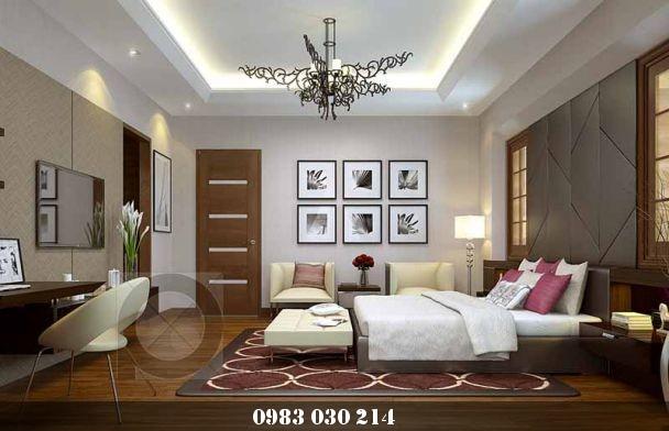 mẫu trần thạch cao phòng ngủ 8