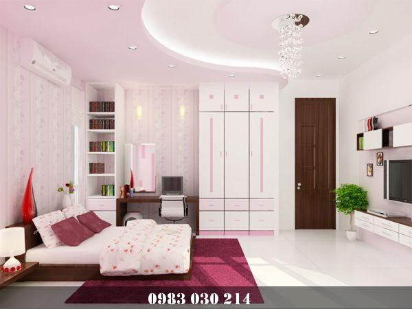 mẫu trần thạch cao phòng ngủ 9